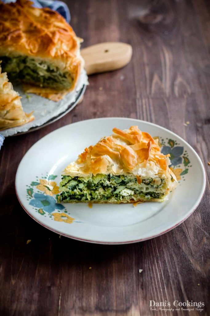 Spinach and Leeks Filo Pie