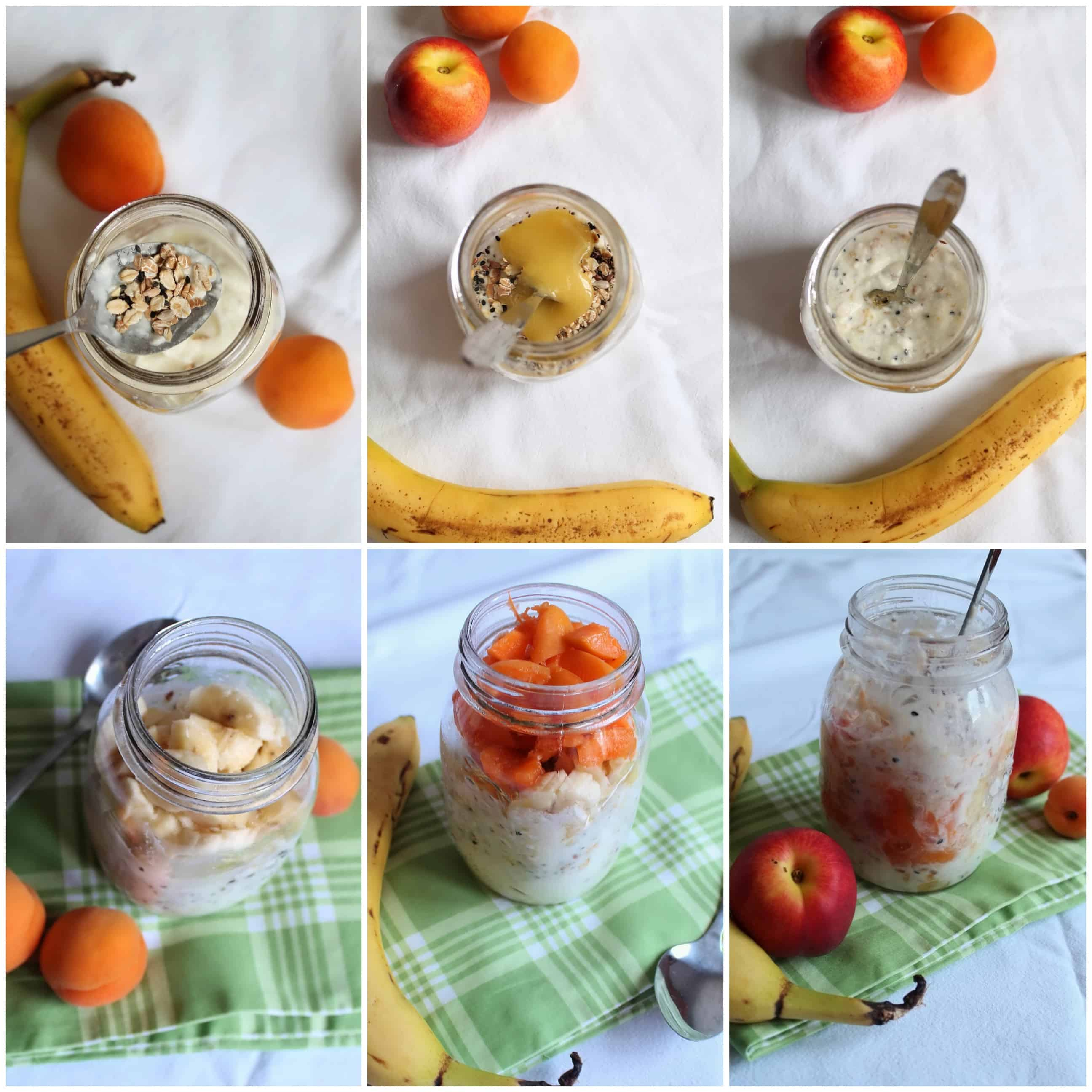 steps to make overnight oats in a jar