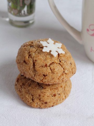 two peanut butter cookies