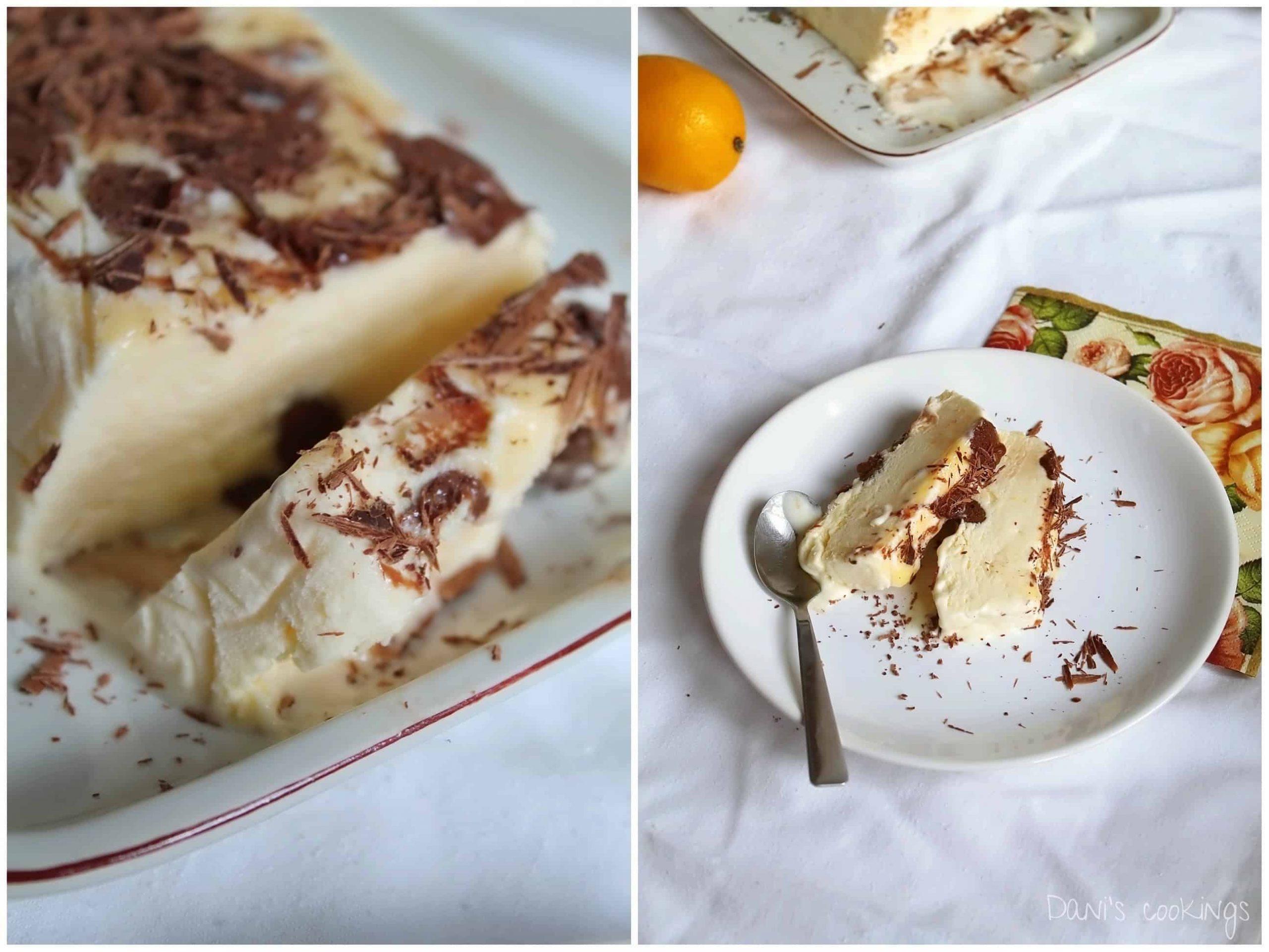lemon and chocolate semifreddo - daniscookings.com