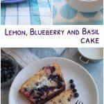 lemon, blueberry and basil cake pin