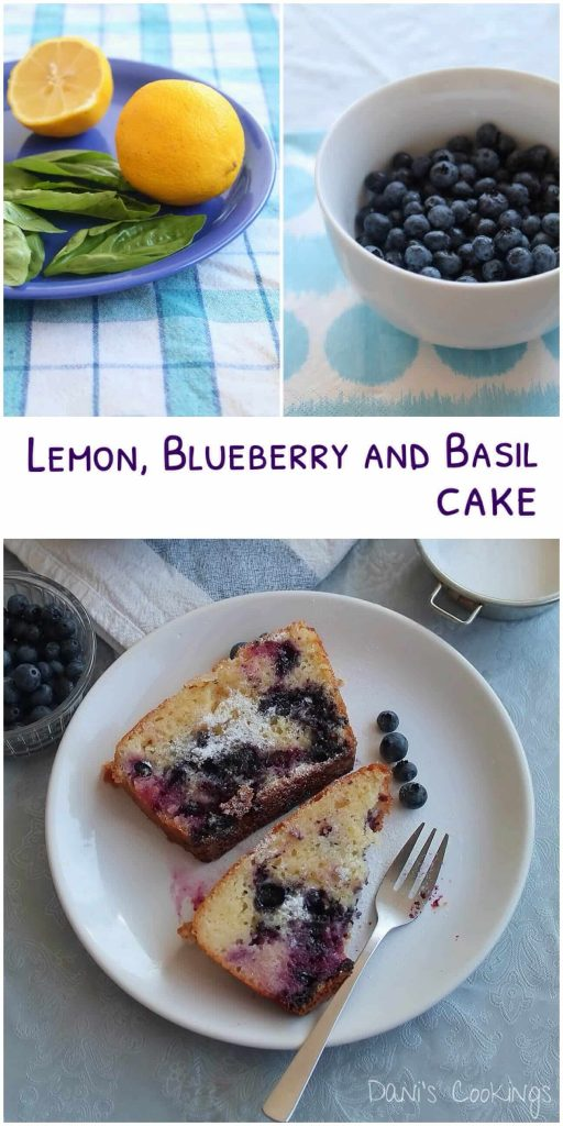 lemon, blueberry and basil cake - daniscookings.com