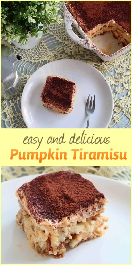 easy and delicious pumpkin tiramisu - daniscookings.com