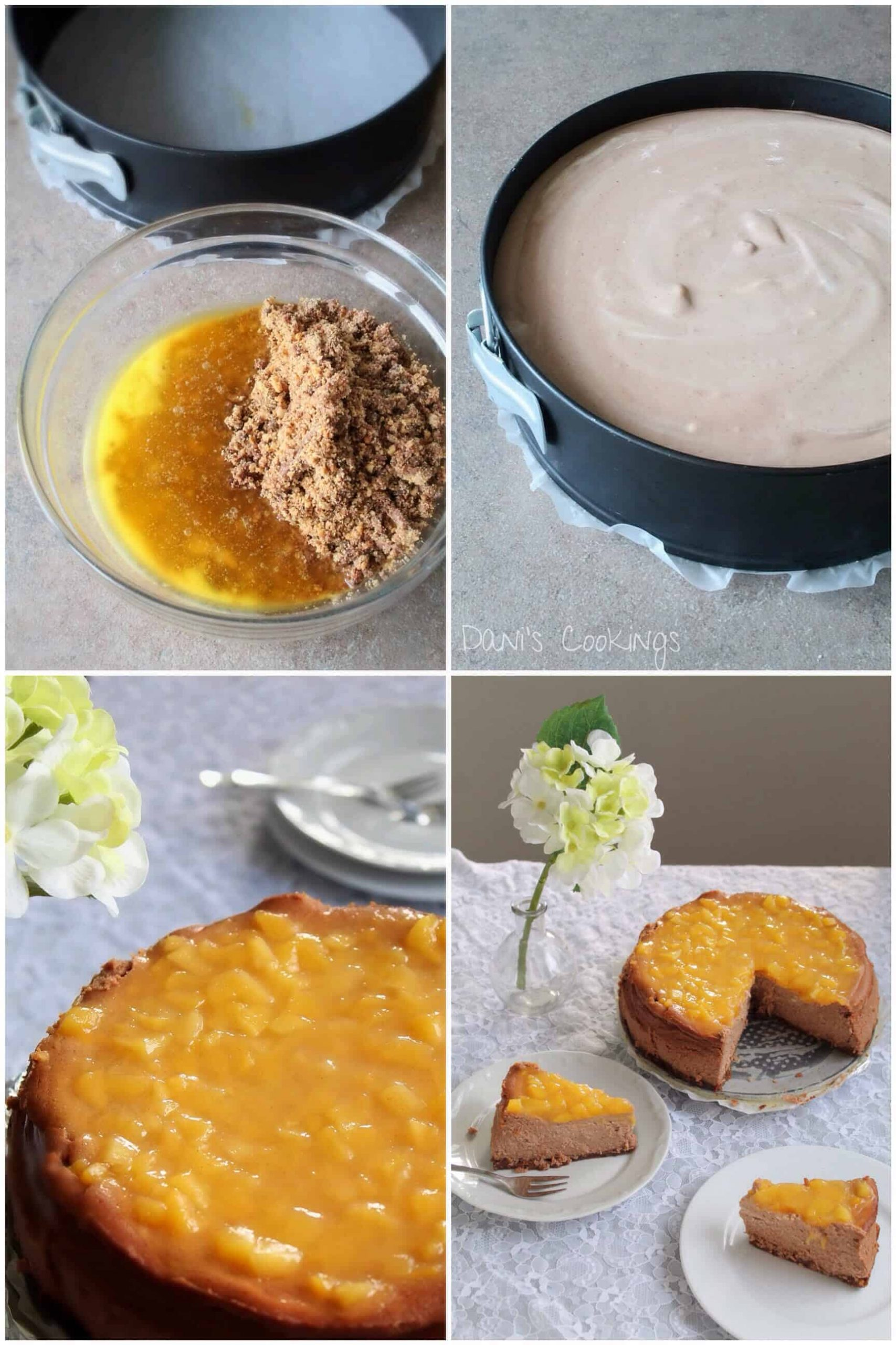 steps to make the cheesecake