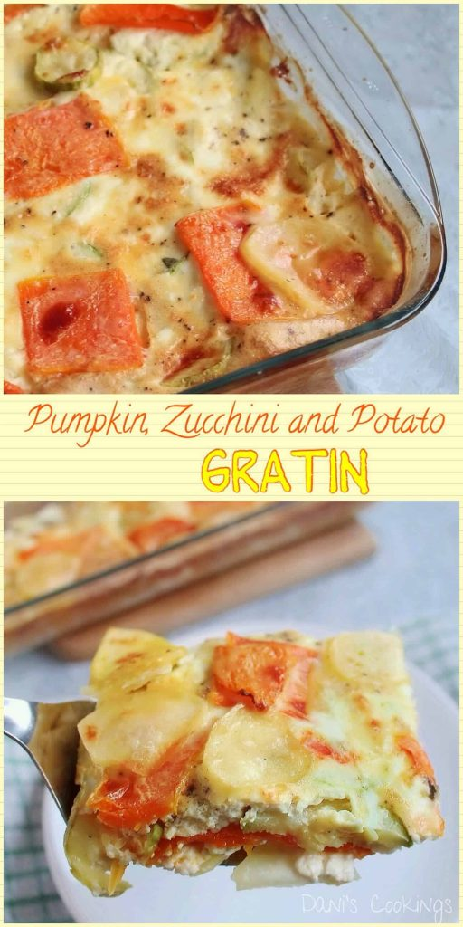 Pumpkin Zucchini Potato Gratin - daniscookings.com