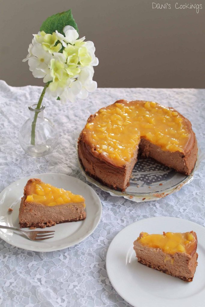 mango chocolate cheesecake - daniscookings.com