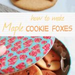 maple cookies - fox shaped cookies- pin