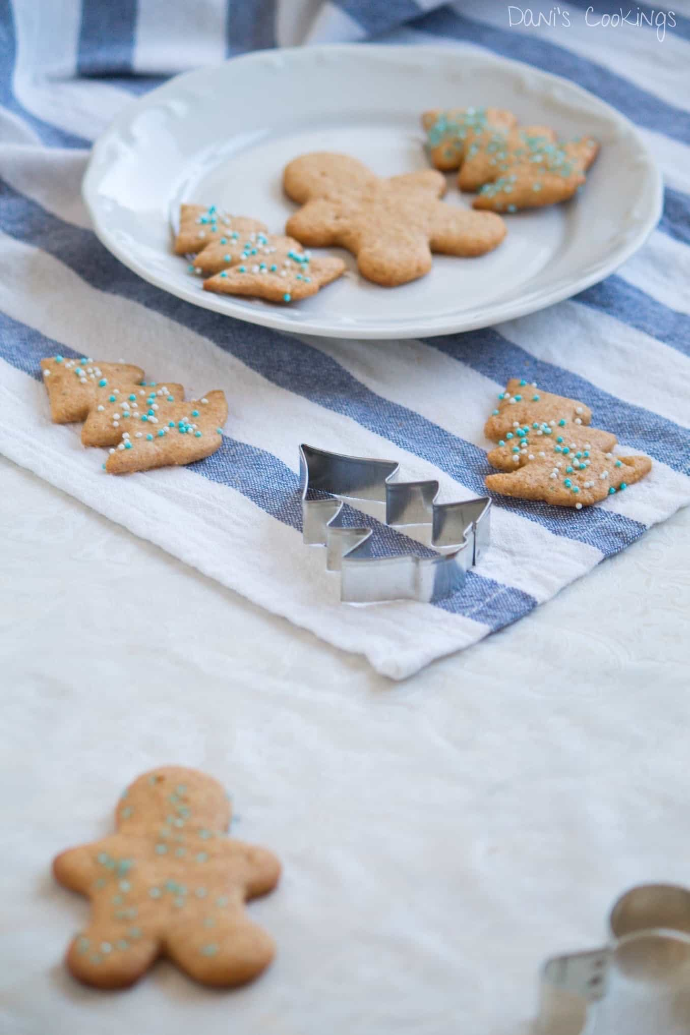 cookies on a plate and others aside, different shapes