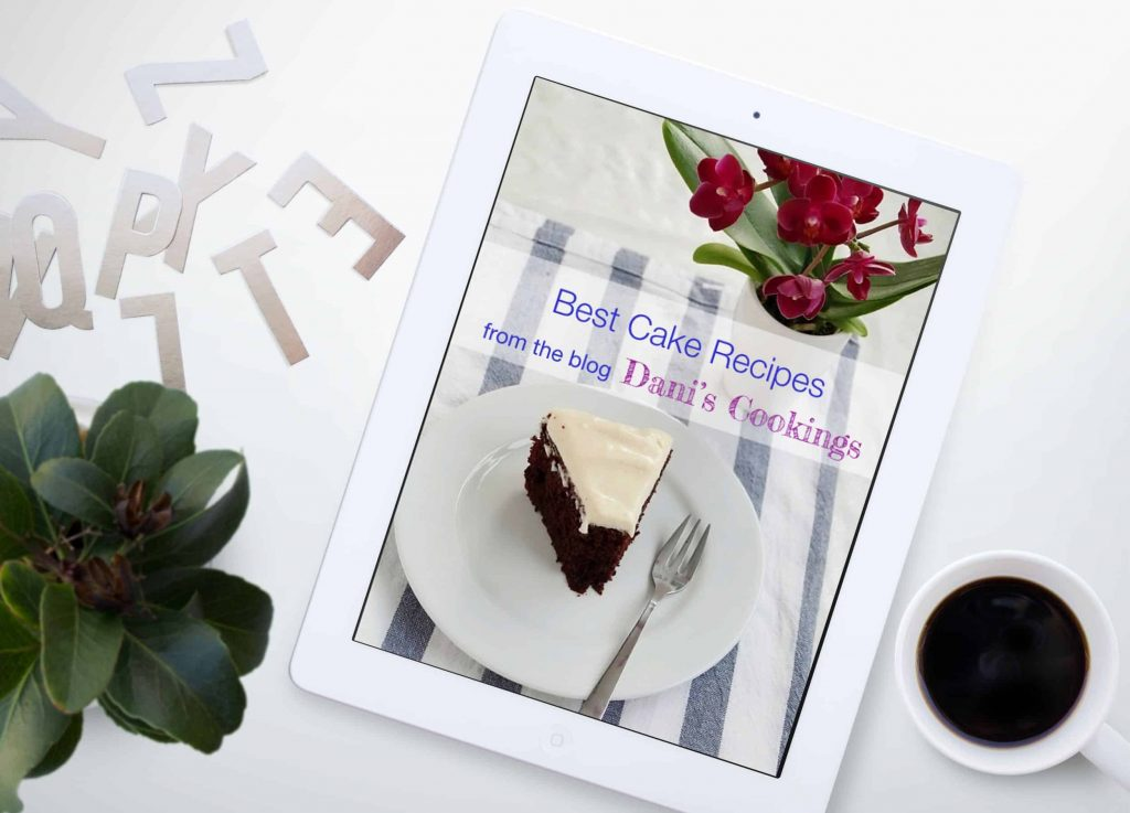 subscribe to dani's cookings newsletters and get a free recipe e-book