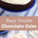 easy double chocolate cake pin