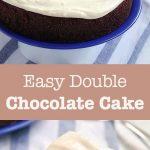 easy double chocolate cake pin