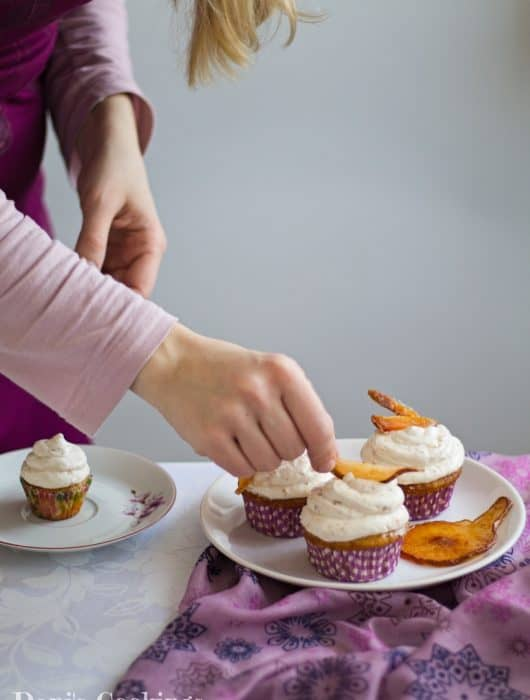 Delicious Cider Cupcakes with Pear Frosting   Dani's Cookings