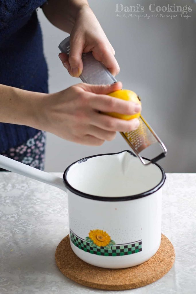 Easy Honey Lemon Panna Cotta with Blueberry Jam   Dani's Cookings