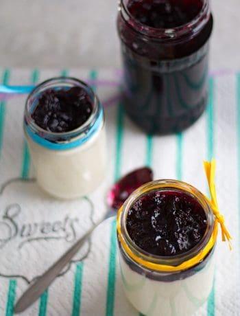 Easy Honey Lemon Panna Cotta with Blueberry Jam | Dani's Cookings
