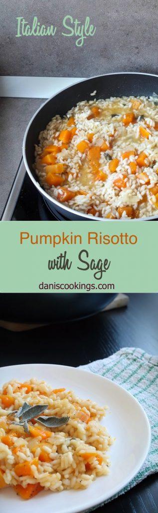 Pumpkin Risotto with Sage: a classic Italian style risotto recipe