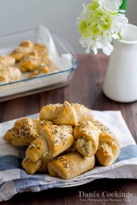 Fluffy and tasty feta and parmesan crescent rolls   Dani's Cookings