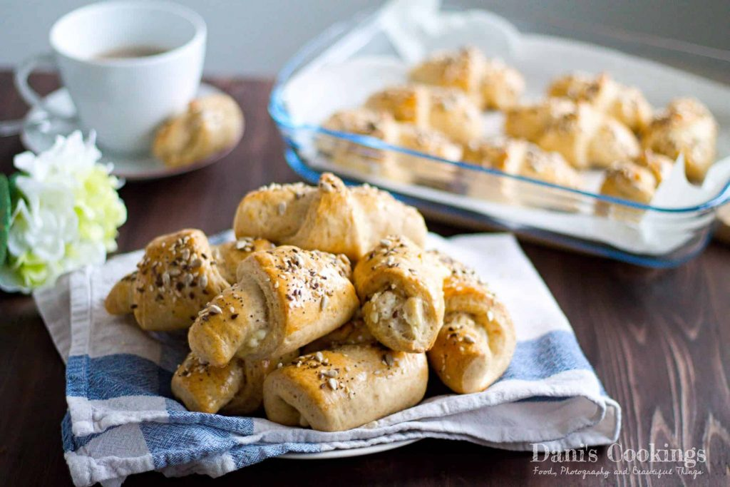 Fluffy and tasty feta and parmesan crescent rolls | Dani's Cookings