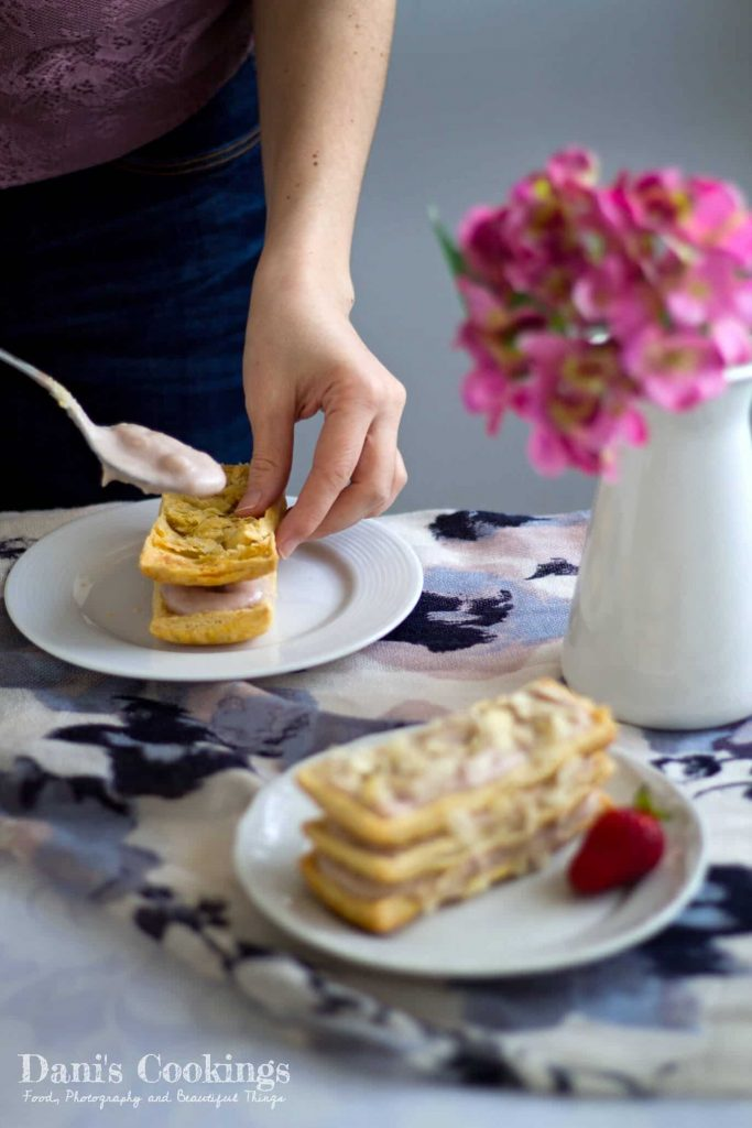 Strawberry Almond Millefeuille   Dani's Cookings