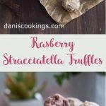 Raspberry Stracciatella Truffles