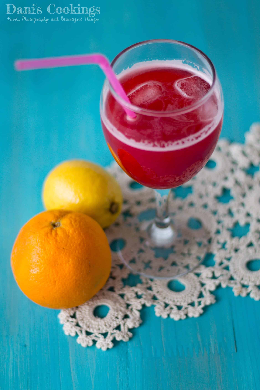 Refreshing Sugar free Raspberry Orange Lemonade | Dani's Cookings
