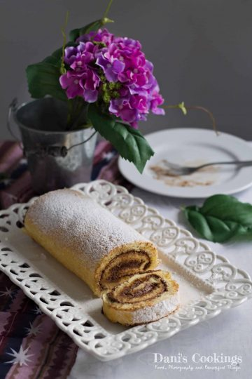 Vanilla Cake Roll with Chocolate Mousse   Dani's Cookings