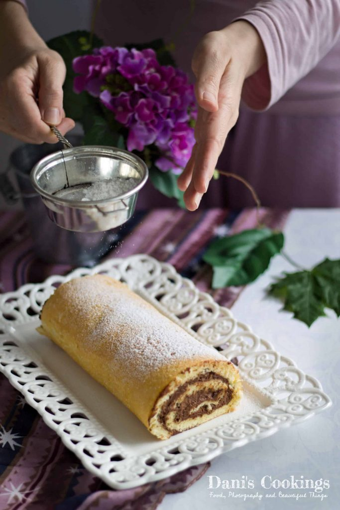 Vanilla Cake Roll with Chocolate Mousse | Dani's Cookings