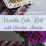 Vanilla Cake Roll with Chocolate Mousse