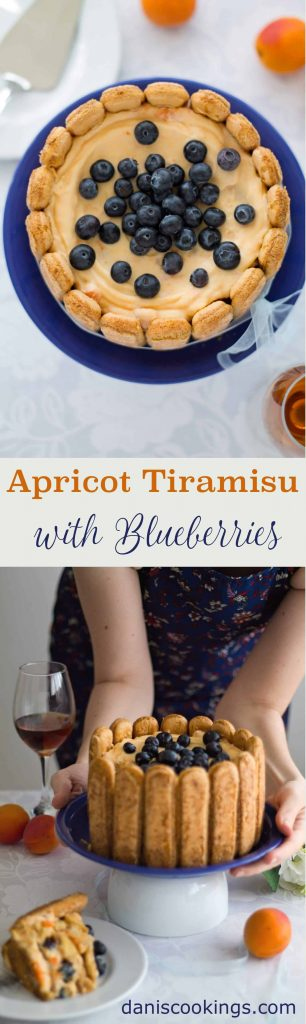 Apricot Tiramisu with Blueberries | Dani's Cookings