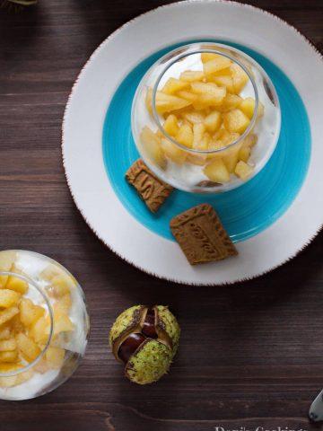Easy Honey Apple Yogurt Dessert in a Glass | Dani's Cookings