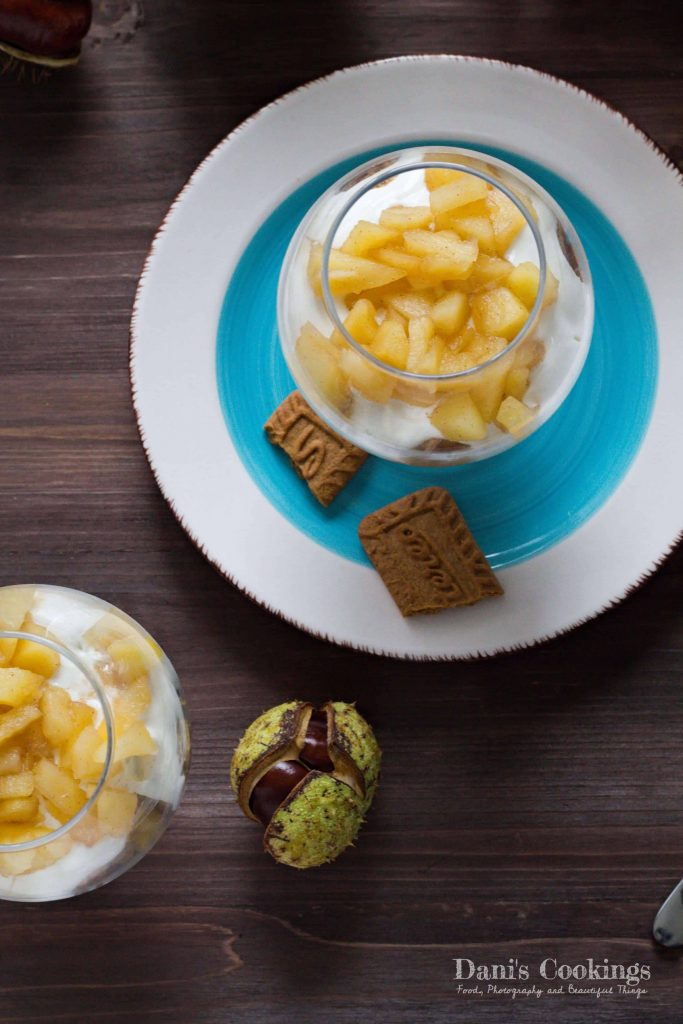Easy Honey Apple Yogurt Dessert in a Glass | Dani's Cookings