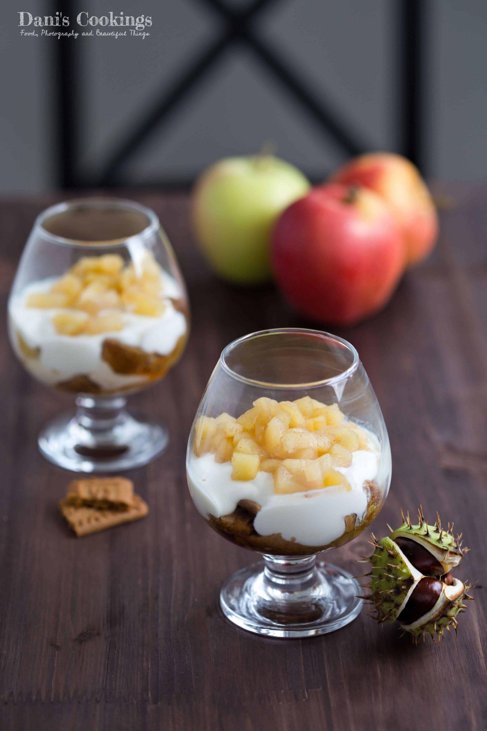 Easy Honey Apple Yogurt Dessert in a Glass   Dani's Cookings