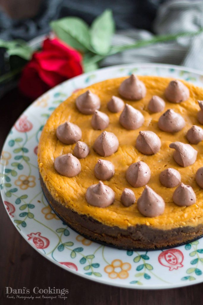 Decadent Sweet Potato Layer Cheesecake with Chocolate Mousse | Dani's Cookings