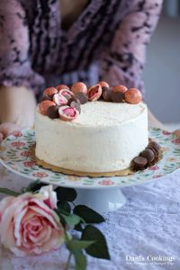 Cocoa Angel Food Cake with White Chocolate Frosting | Dani's Cookings