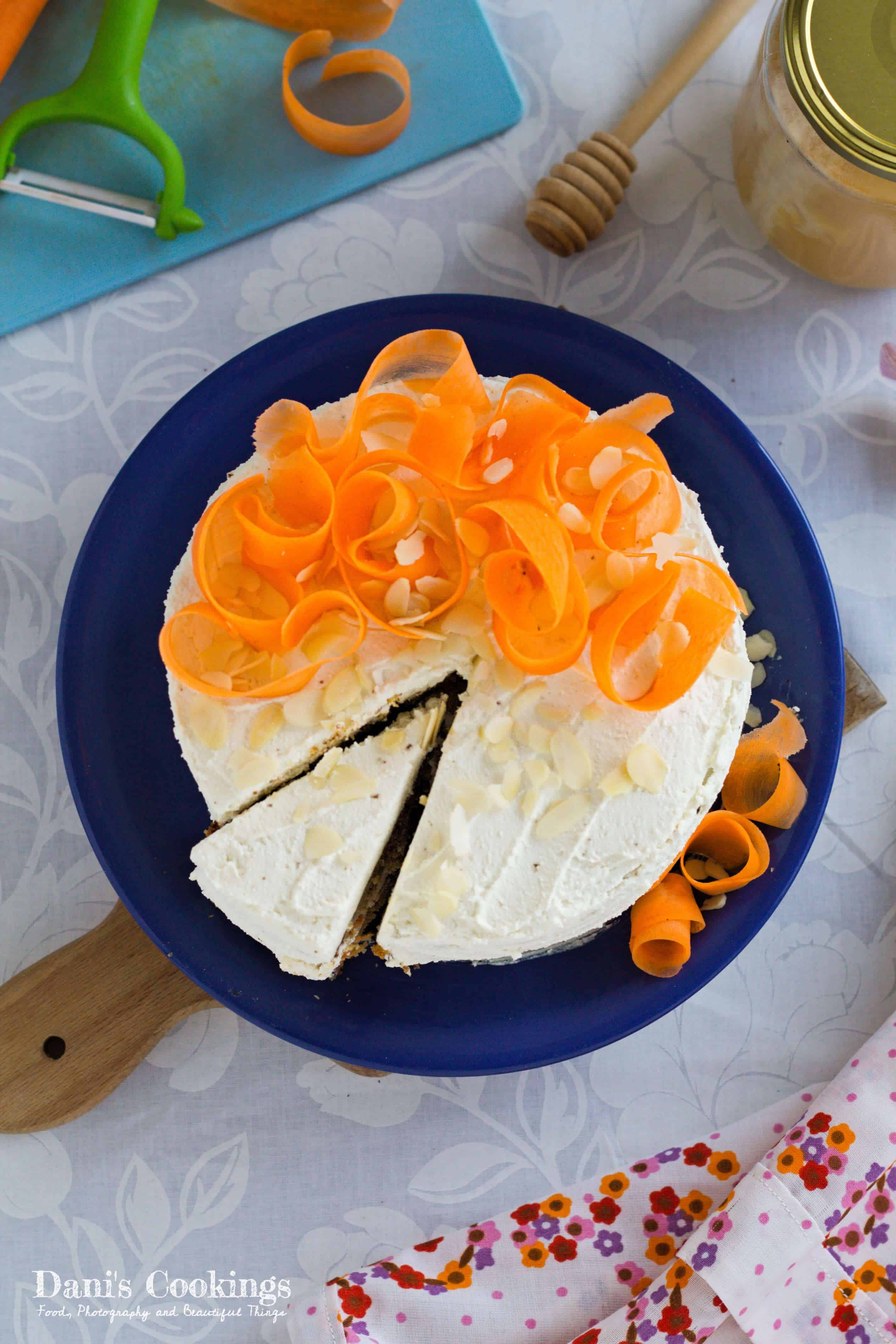 Healthy Carrot Cake With Almonds And Hazelnuts Dani S Cookings