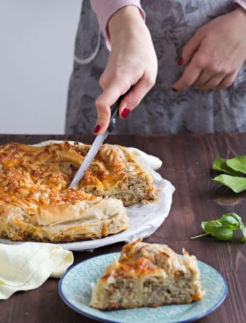 Meat and Leek Filo Pie | Dani's Cookings