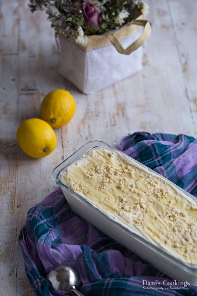 No Churn Lemon Cheesecake Ice Cream | Dani's Cookings