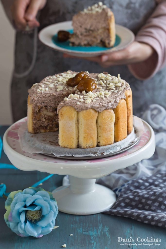 Quick Charlotte with Chocolate and Jam | Dani's Cookings