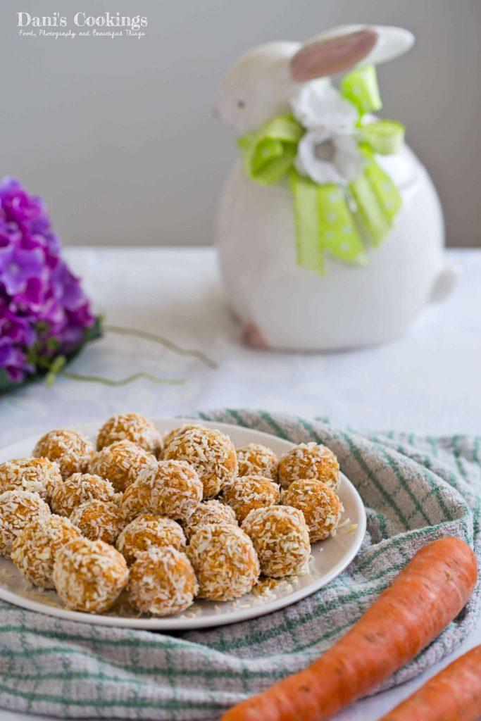 Raw Carrot Coconut Truffles - Dani's Cookings