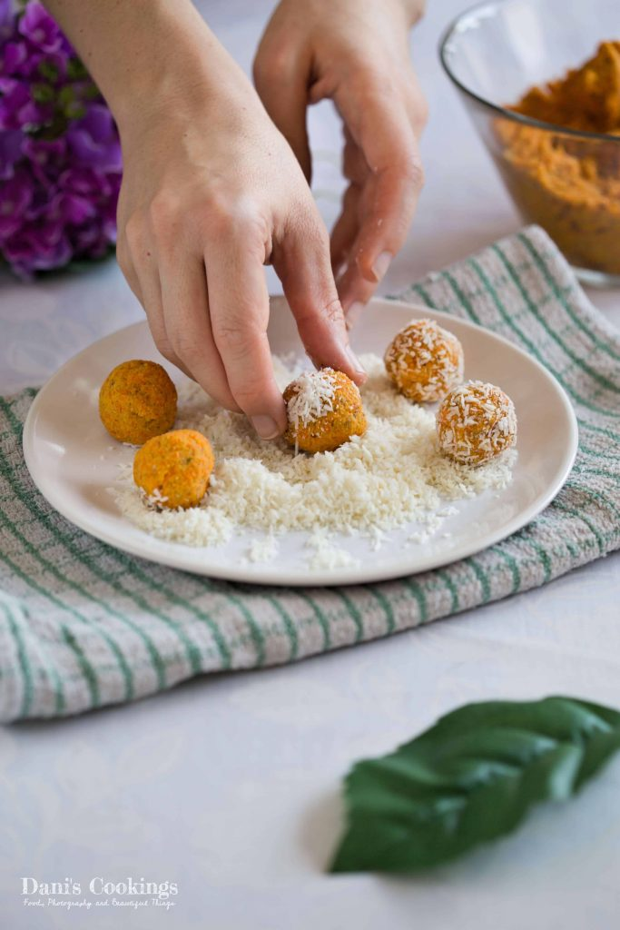 Raw Carrot Coconut Truffles - Dani's Cookings