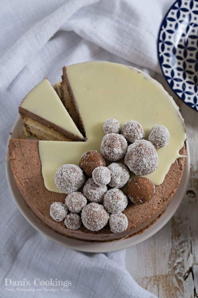 Coconut Chocolate Layer Cake