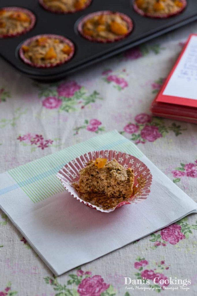 These Sugar Free Date Apricot Muffins