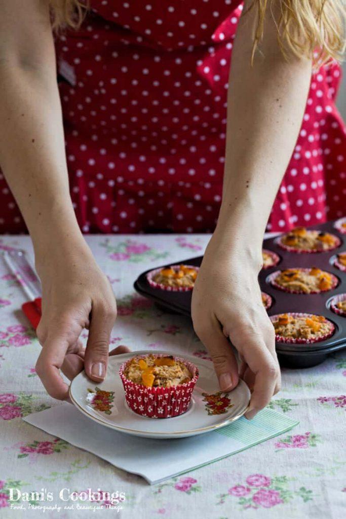 Sugar Free Date Apricot Muffins