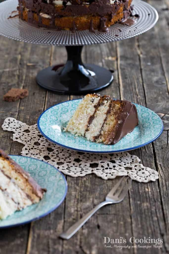 Simple Cake with Ricotta and Chocolate Mousse