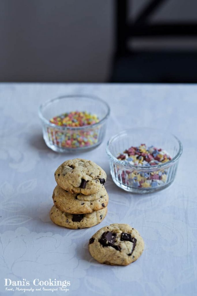 Orange Chocolate Cookies with Sprinkles