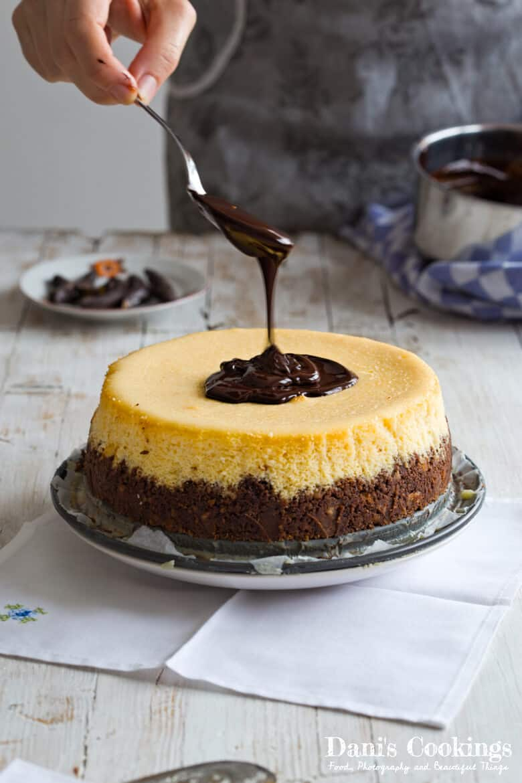 Orange Cheesecake with Chocolate Glaze