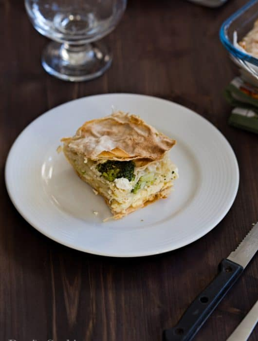 Broccoli Filo Pie