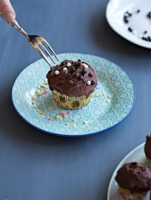 Ricotta Cupcakes with Chocolate Frosting