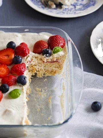 No Bake Berry Ice Box Cake