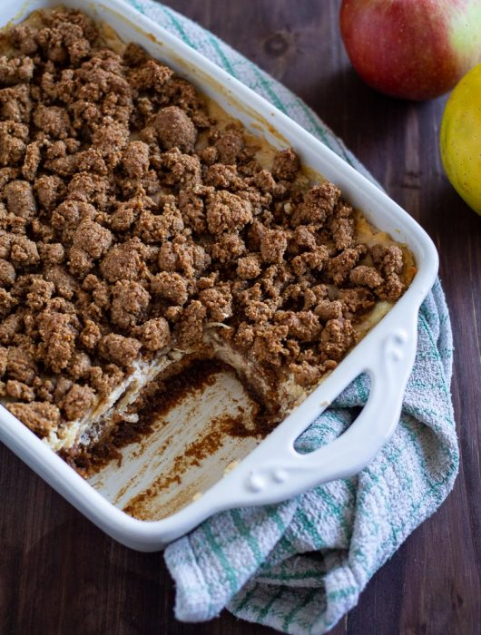 Sour Cream Apple Crumb Cake