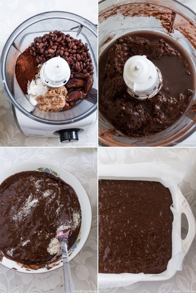 how to make vegan black bean brownies
